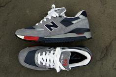 New Balance Made in USA 998 Grey/Red/Navy
