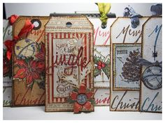 Tim Holtz Blueprints Christmas Tags