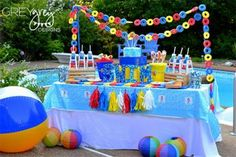 Pool Party theme--perfect for summer