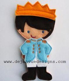 Prince outfit for boy felt dolls available at https://www.etsy.com/shop/SchoolhouseBoutique