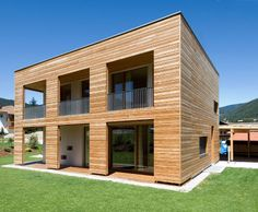 Pure wood no glue, not in the house and not in life. Thoma Holz 100, Goldegg, Austria