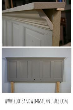 Diy headboards 98657048074608332 - An old door, some trim and a create this unique DIY headboard. Add character and farmhouse style to any room. Source by rwfurniture Furniture Makeover, Diy Furniture, Furniture Stores, Furniture Design, Headboard From Old Door, Headboards For Beds, Pallet Headboards, Headboard Ideas, Old Doors