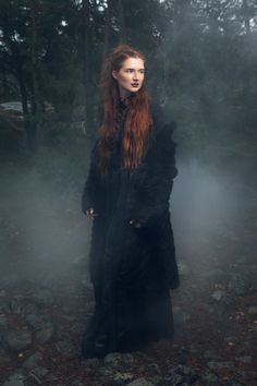 Autumn & Winter 2014 Kaski Collection What happens when you set a dinner table and invite an ethereal shaman woman, a Victorian era beauty, Kalevala's Aino lady, a viking matriarch. Shaman Woman, Fall Winter, Autumn, Wild Nature, Victorian Era, Wiccan, Sustainable Fashion, Art Photography, Goth