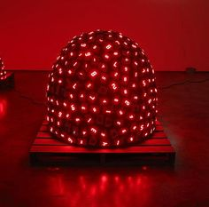 Pile Up Life No.2(2008) by Tatsuo Miyajima, viaLisson Gallery