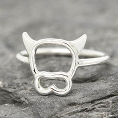 A personal favorite from my Etsy shop https://www.etsy.com/ca/listing/264883462/cow-ring-cow-jewelry-cow-accessories-925