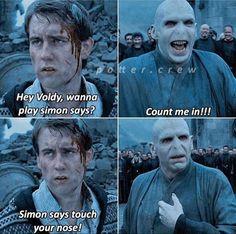 Harry Potter Voldemort, Harry Potter Tumblr, Harry Potter Mems, Harry Potter Funny Pictures, Harry Potter Comics, Mundo Harry Potter, Harry Potter Pictures, Harry Potter Cast, Harry Potter Quotes