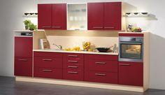 rote Küchenzeile