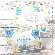 Stempellicht: Blumen voller Freude Stampinup, Blog, Poster, Pastel Colors, Good Day, Glee, Birthday, Flowers, Blogging