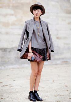 Street style during New York and Paris Fashion Week Street Style Chic, Spring Street Style, Street Style Looks, Street Style Women, Fashion Mode, Bold Fashion, Fall Fashion Trends, Autumn Fashion, Paris Fashion