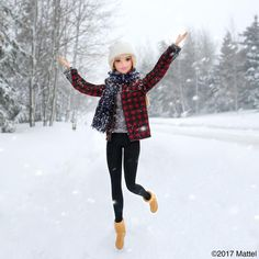 Having fun celebrating my inner snow bunny at #Sundance! ❄️ #barbie #barbiestyle