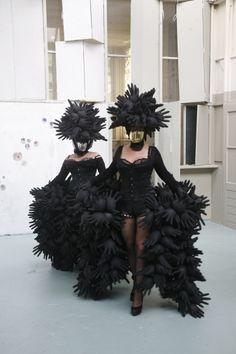 Balloon-dress, well actually rubber gloves