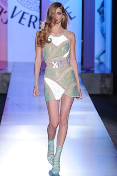 Versace Fall Couture...ahhh. This is the coolest mini-dress and the hair is so sexy.