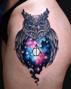 Trendy ideas for skin color tattoo ideas beautiful Owl Thigh Tattoos, Skull Tattoos, Life Tattoos, Sleeve Tattoos For Women, Tattoos For Guys, Cool Tattoos, Wolf Tattoo Meaning, Tattoos With Meaning, Owl Tattoo Design
