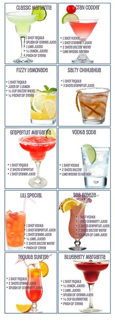 Skinny Summer Cocktails! (guilt-free and refreshing!):