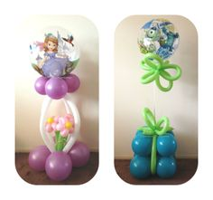 Sophia the first & Monsters Inc Balloon Display