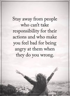 take responsibility for actions