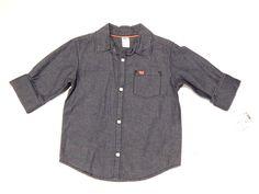 NEW Toddler Boys Carter's Blue Denim Button Down Shirt Long Sleeve Size 4T    eBay