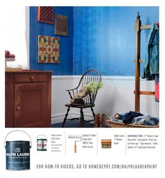Crafting Color: Learn how to craft your favorite Ralph Lauren Paint blue onto your walls. Watch the how-to video for step-by-step instructions.