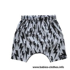 Toddler Shorts - Harem Shorts - Hipster Kid Clothes - Lightning Bolt - Baby Harems - Kids Shorts - Organic Cotton Knit - Kids Clothes - http://www.babies-clothes.info/toddler-shorts-harem-shorts-hipster-kid-clothes-lightning-bolt-baby-harems-kids-shorts-organic-cotton-knit-kids-clothes.html