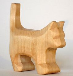 Hand Carved Wooden Animals Set. | Elves & Angels Heirloom Quality Wooden Toys