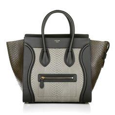 It work's with Celine Mini Luggage Bag in Python Khaki Fashionette.de