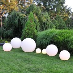 lit glo balls made of roto molded plastic suitable for indoor and outdoor use  made in Italy