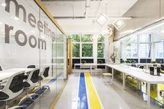 office design work space ideas Yuanyang Express We+ Co-working Space,© Kangshuo Tang