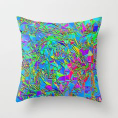 Pixel Bomb Throw Pillow by Emanuele Mor - $20.00