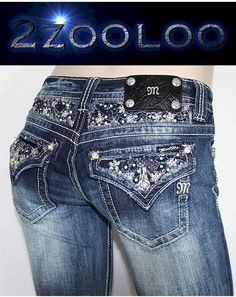 f7078720d70f2 Miss Me Jeans New Flower Sequins Insert Boot Cut JP5630B Plus Size 34 So  Hot