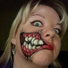 Halloween Makeup Ideas – Halloween Ideas – Grandcrafter – DIY Christmas Ideas ♥ Homes Decoration Ideas Face Paint Makeup, Makeup Art, Makeup Ideas, Fun Makeup, Halloween Makeup Looks, Halloween Kostüm, Cosplay Makeup, Costume Makeup, Horror Make-up