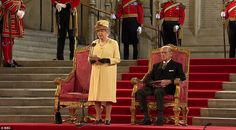 The Queen addressed both Houses of Parliament for the first time in a decade as MPs peers and dignitaries honoured her 60 years on the throne.  The Queen thanked the nation, looked back on her reign, re-pledged her allegiance and praised her loyal family.