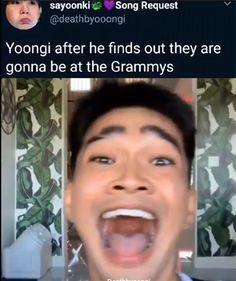 Not my video uploaded by Bts Memes Hilarious, Bts Funny Videos, Kpop Memes, Rap Lines, Bts Tweet, Min Yoongi Bts, Bts Stuff, I Love Bts, Bts Video