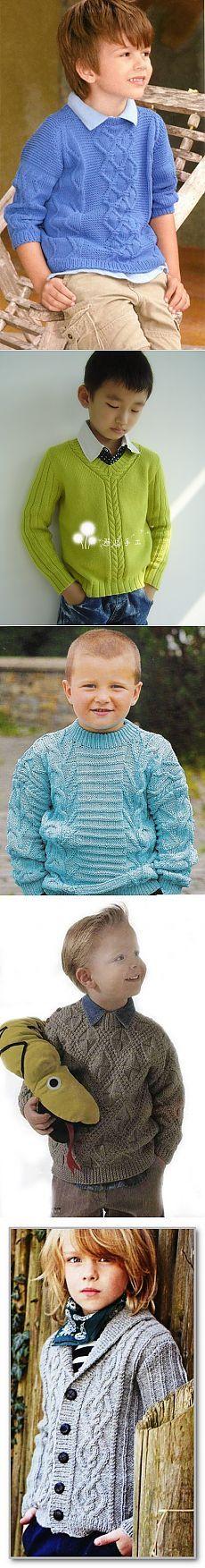 Knitting for boys.