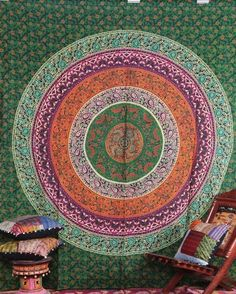 Indian Tapestry Wall Hanging Hippie Queen Bedspread Tapestries Mandala Throw #Unbranded #ArtDecoStyle
