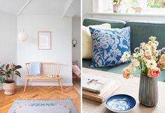 Heldigvis gik drømmen i opfyldelse for australske Miriam på 33. Se, hvordan hun og familien har indrettet sig med stor kærlighed til dansk design. Danish Interior, Hygge, Pastel, House Design, Throw Pillows, Villa, Home Decor, Modern, Cake
