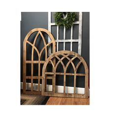 Arch Wood Window Wall Decor 1 Thick Solid Quality Pine Living Room