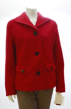 New JM Collection Red Short Coat Size P/S, P/M, P/L, 2X