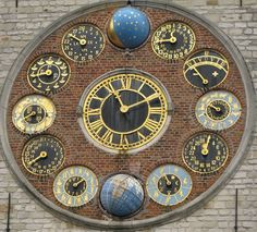 Astronomical Clock (1930) Zimmertoren on Zimmer Tower in Lier, Belgium.