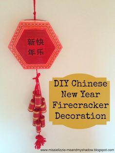 Chinese New Year Craft - Junk Modelling Firecracker Decoration