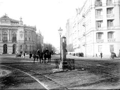 Okolica Placu Politechniki Warszawskiej. Fot. z początku XX wieku.