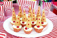 Clown cupcakes!