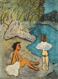 Country Brook - Milton Avery 1938 American 1885-1965 Oil on canvas, 40 x 30 in. Neuberger Museum of Art