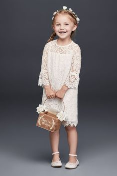 Your flower girl could fit right in with your boho chic bridesmaids with our extensive selection of bohemian flower girl dresses. Find a boho flower girl dress for your littlest bridal party member at David's Bridal. Flower Girl Dresses Boho, Tulle Flower Girl, Girls Dresses, Bridal Party Dresses, Davids Bridal Dresses, Bridal Bouquets, Bridal Gowns, Wedding Dresses, Bohemian Flowers