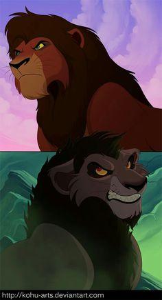 Kovu and Nuka Kiara Lion King, Kiara And Kovu, Lion King 3, Lion King Fan Art, Lion King Movie, Lion Art, Disney Lion King, Anime Lion, Lion King Story