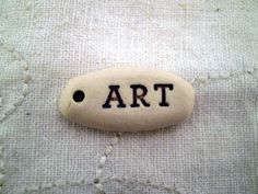 Art Message Bead, Inspirational Word Bead by spinningstarstudio on Etsy