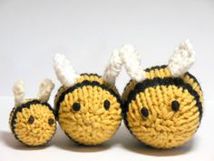 I wish I knew how to knit!    Bees Knit Bee Set Bumble Bee Nursery Woodland by SweetBauerKnits, $62.00