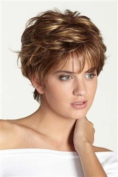 The Frisco Monofilament Wig by Dream USA has short, straight layered hair on top; The monofilament top construction allows for unparalleled styling, versatility and…More Straight Layered Hair, Short Hair With Layers, Short Hair Cuts For Women, Short Hairstyles For Women, Wig Hairstyles, Short Haircuts, Hairstyle Ideas, Straight Hairstyles, Hair Ideas