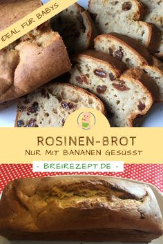Rosinenbrot backen Baby Food Guide, Baby Food Recipes, Baby Snacks, Baby Led Weaning, Banana Bread, French Toast, Good Food, Sweets, Breakfast
