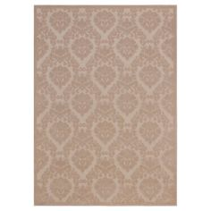 "Nourison Damask Ultima Accent Rug - Ivory/Sand (Ivory/Brown) (3'6""X5'6"")"