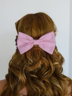 Light+Pink+Bow+Pink+Hair+Bow+Clip+Pink+HairBow+by+CutieCuteBows,+$4.99